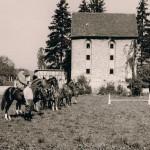 Reitstunde im Klostergarten, in den 50er Jahren