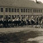 Aufstellung vor der Laiblinschule